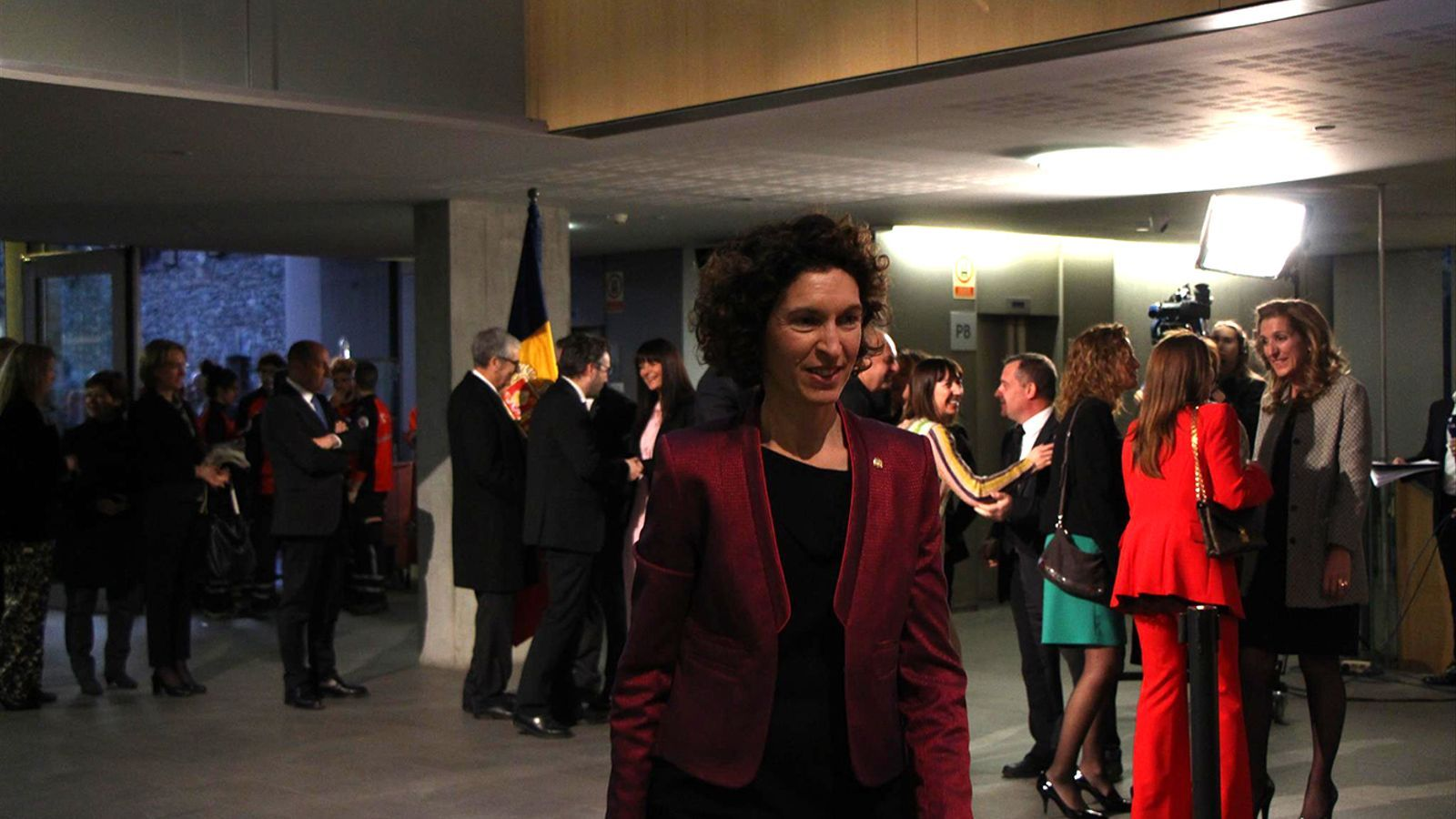 La ministra d'Afers Exteriors en funcions, Maria Ubach, durant la celebració del dia de la Constitució. / M. F. (ANA)