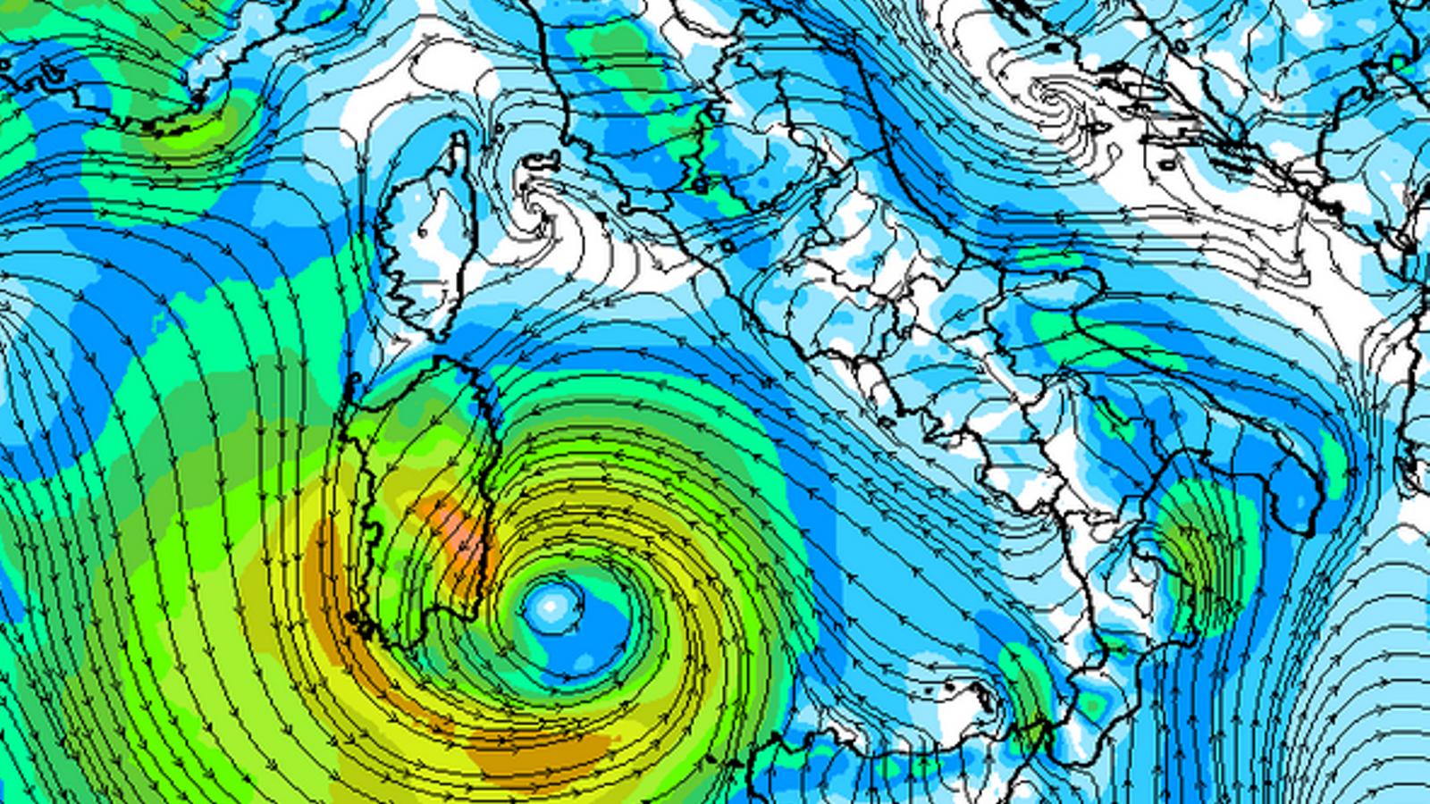 Una petita borrasca amb trets d'huracà s'està formant al Mediterrani