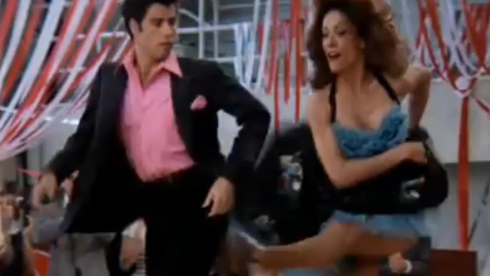 El ball de Cha Cha DiGregoria i Danny Zucco, Anette Charles i John Travolta, a 'Grease'