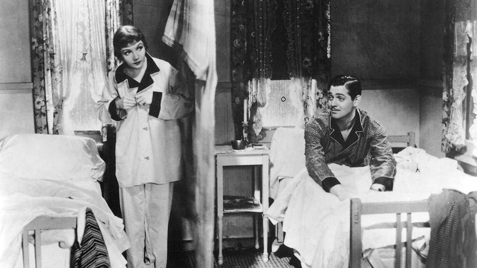 """Una escena del film 'Va passar una nit"""""""