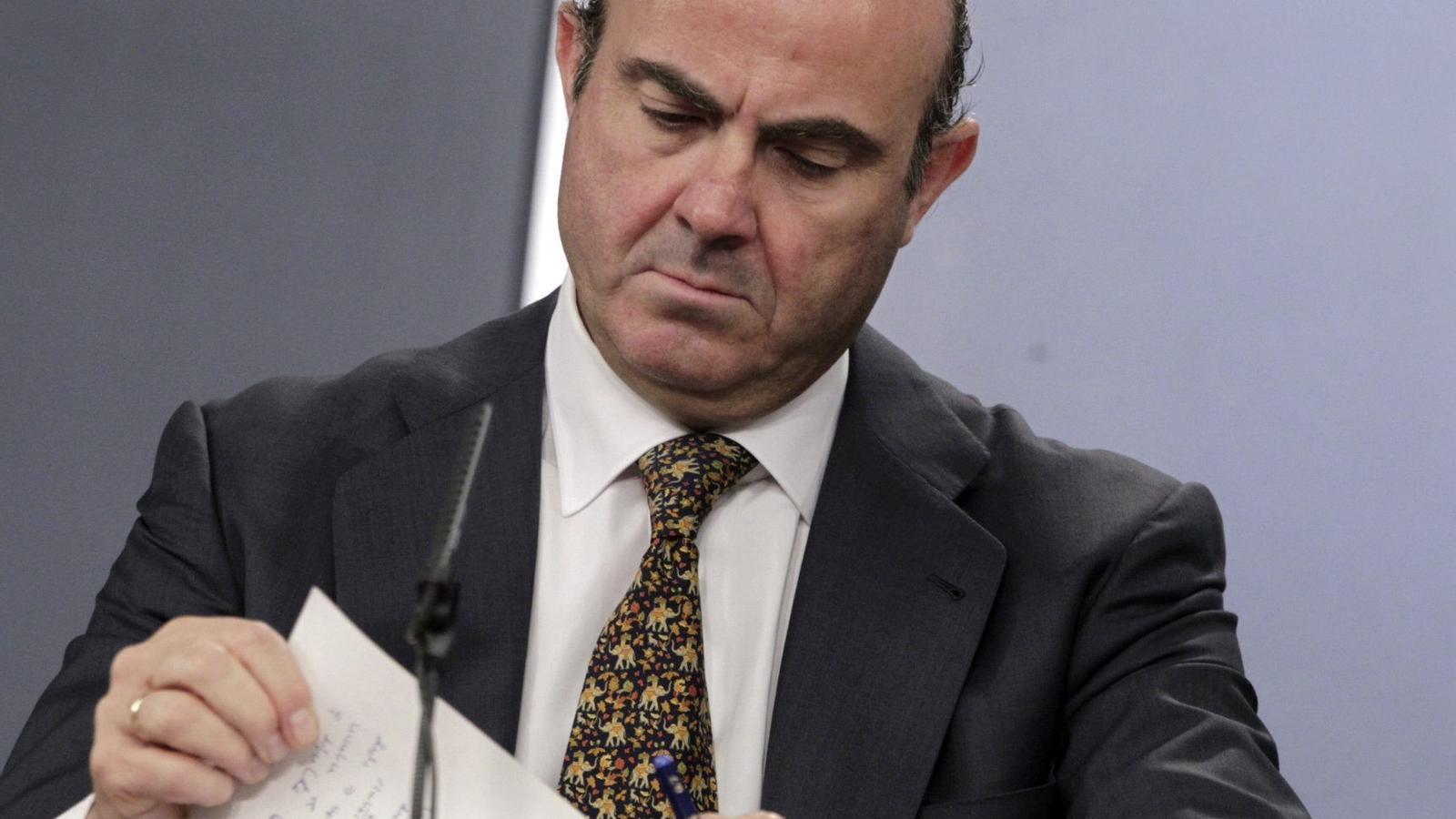 Luís de Guindos a la roda de premsa del darrer Consell de Ministres