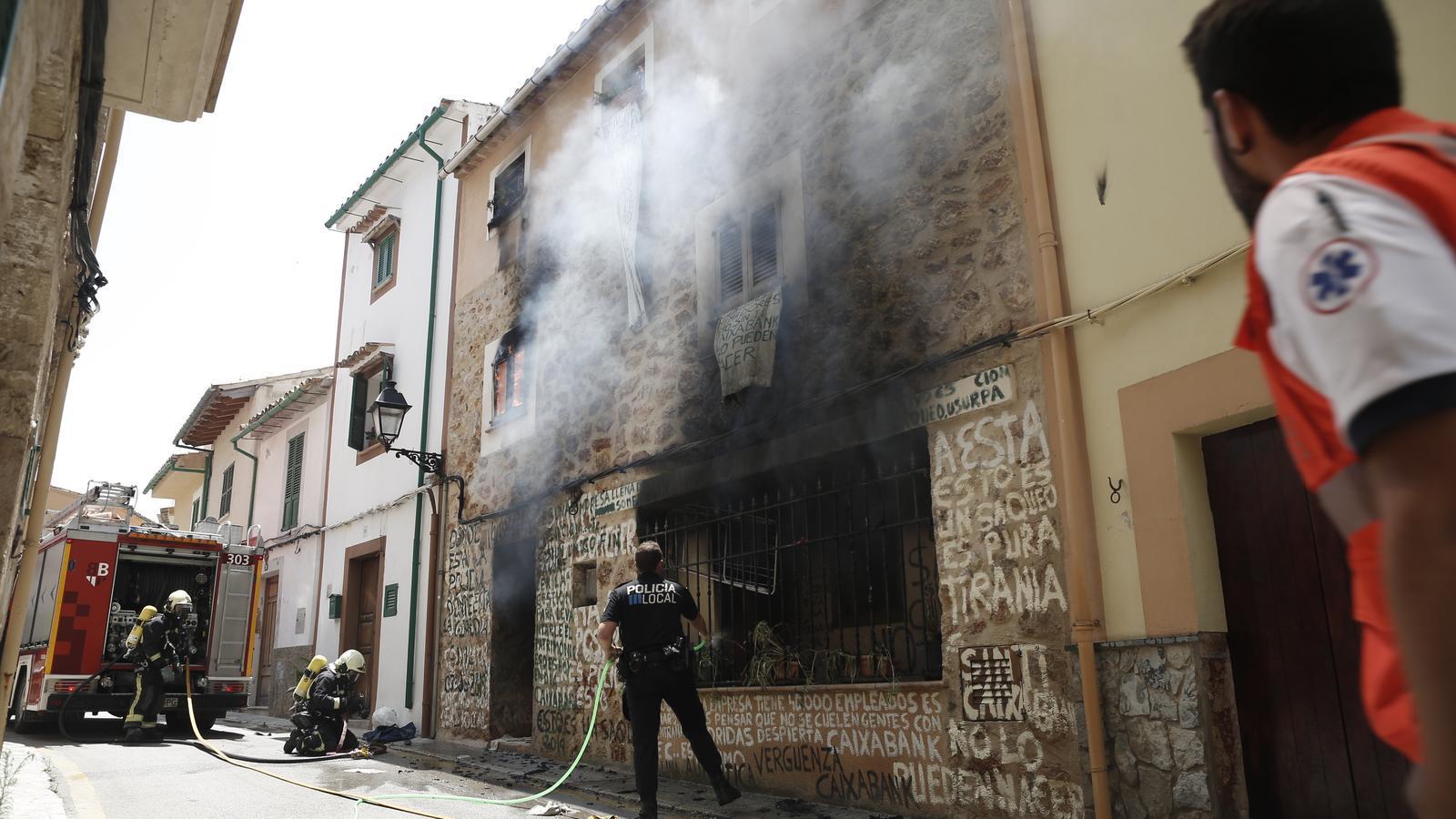 S'incendia la casa d'una dona de Bunyola que havia de ser desnonada