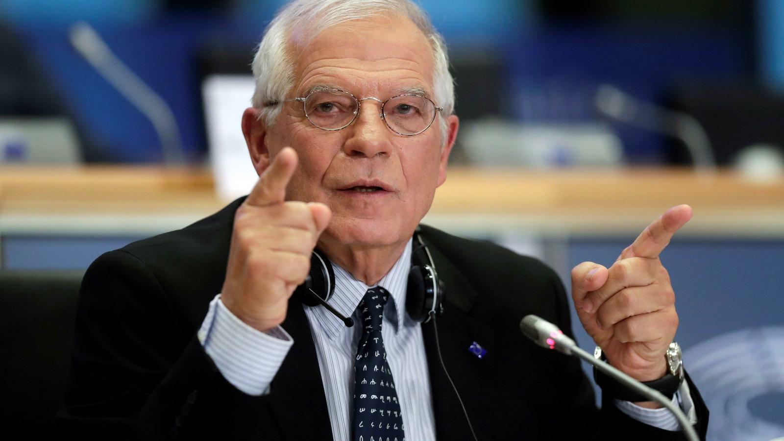 El ministre d'Exteriors en funcions espanyol, Josep Borrell.