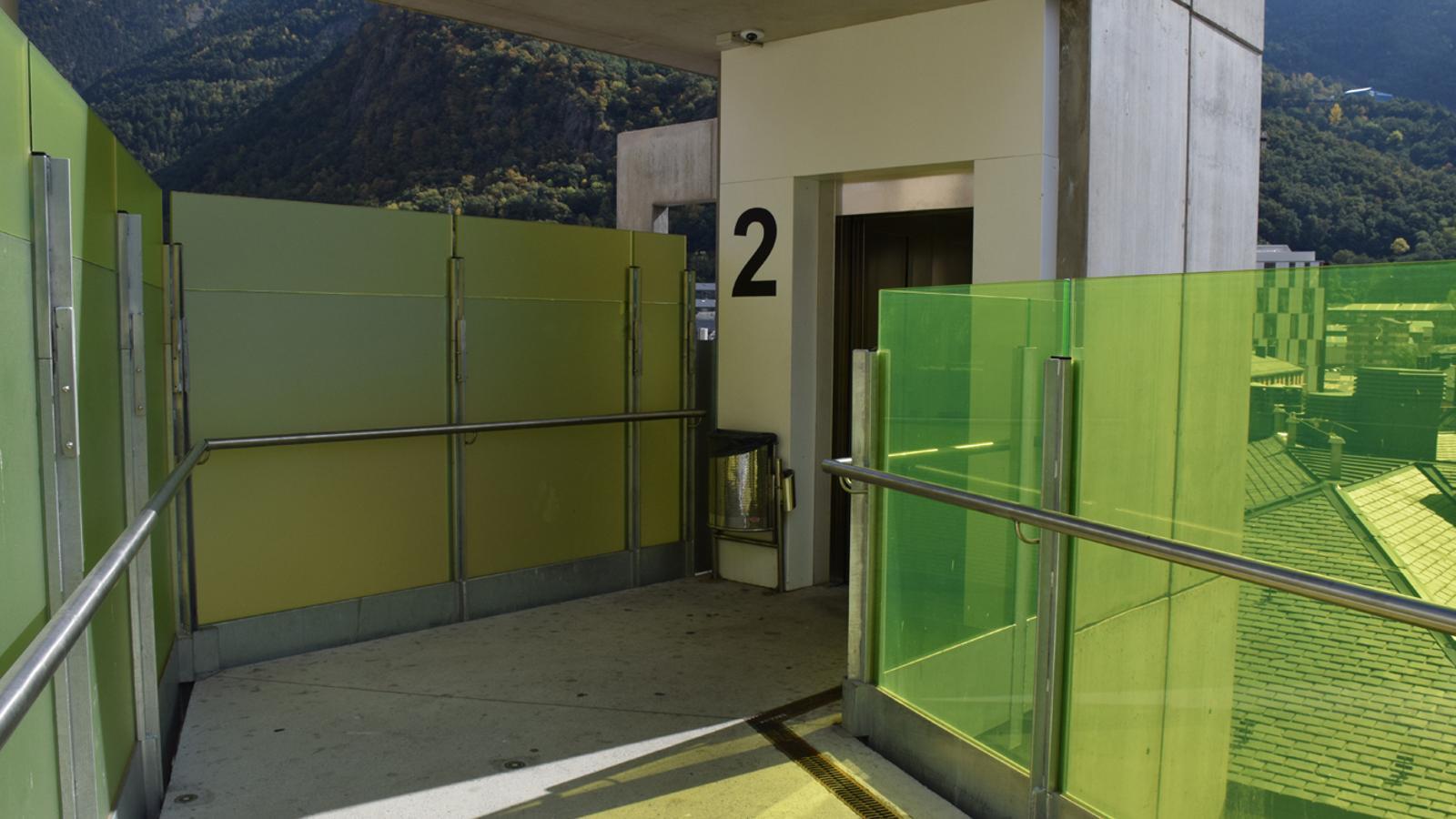 La segona planta de l'ascensor de la Quirola. / T. N.