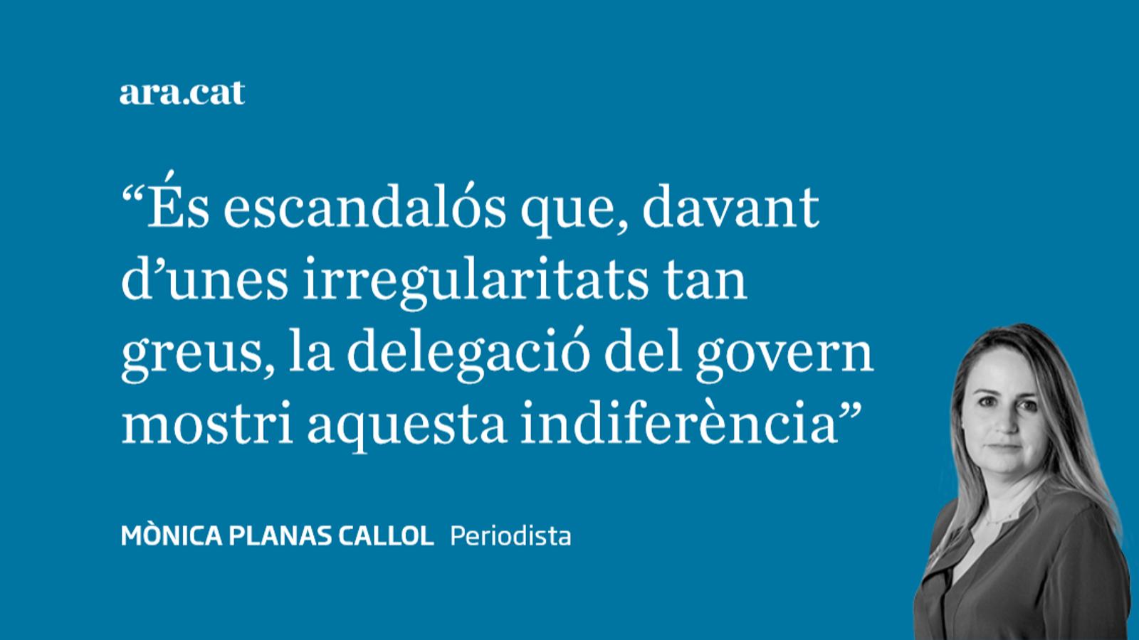 Lidia Heredia colla la delegada del govern espanyol