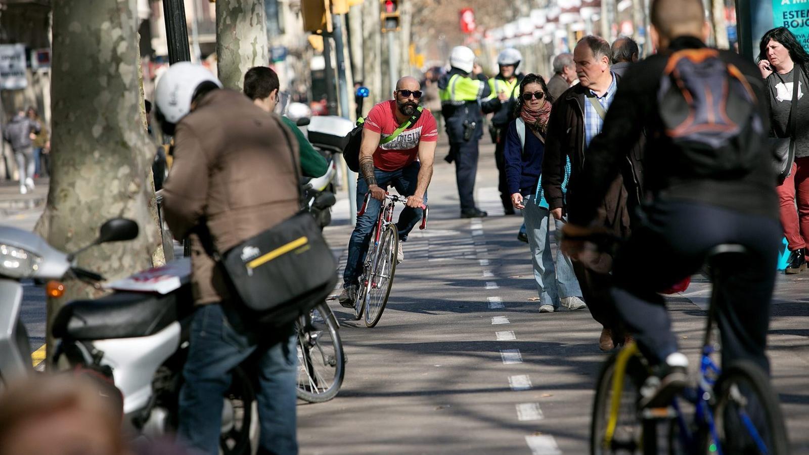 Cada dia es fan 136.440 desplaçaments en bici a Barcelona.