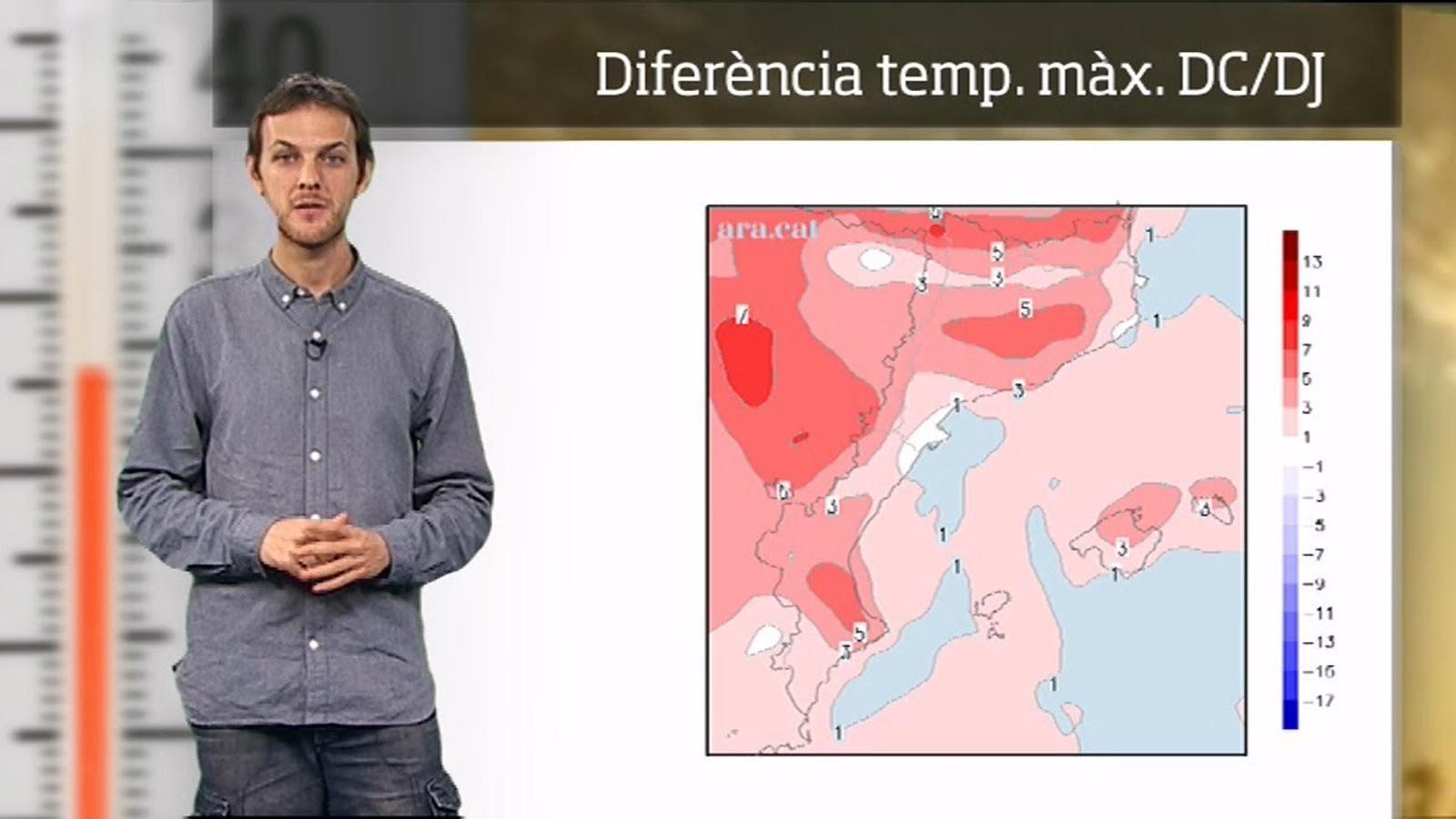 La méteo en 1 minut: clara pujada de la temperatura