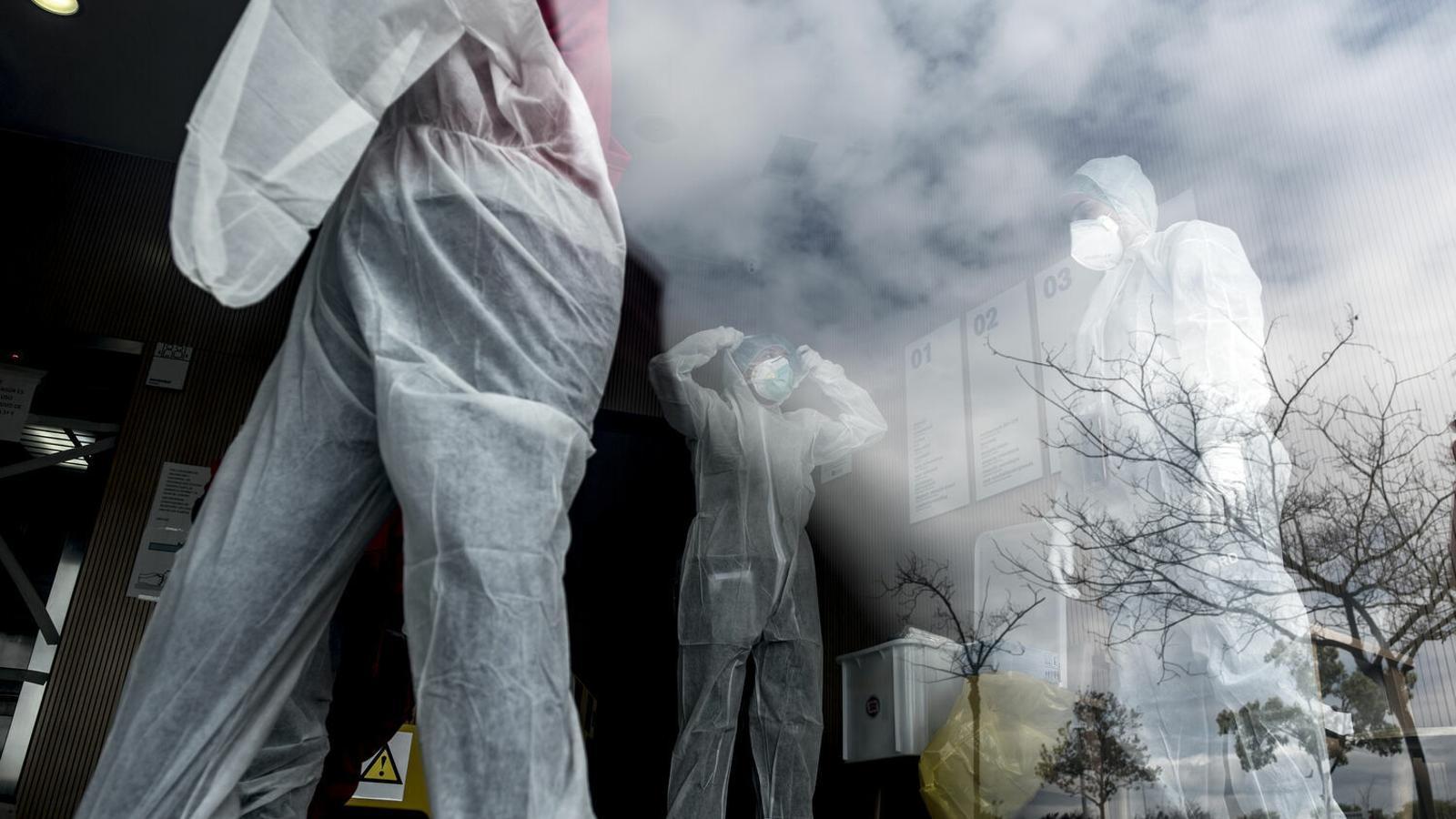 Voluntaris d'Open Arms realitzen tests i porten medicació a residències d'avis de Catalunya.
