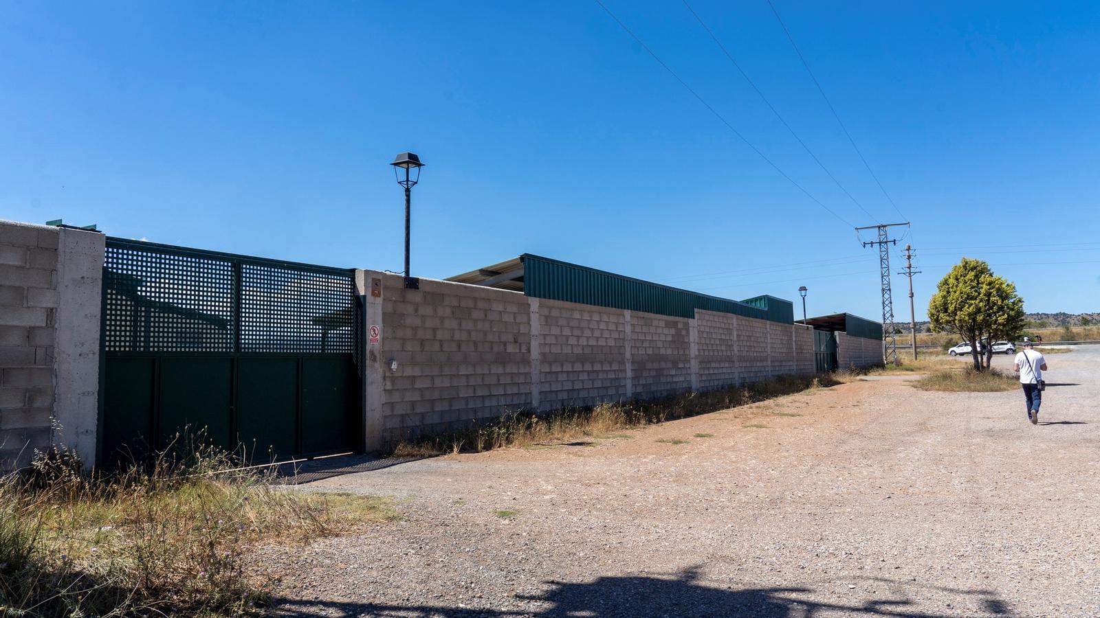 Exterior de la granja de la Pobla de Valverde (Terol) on se sacrificaran els visons