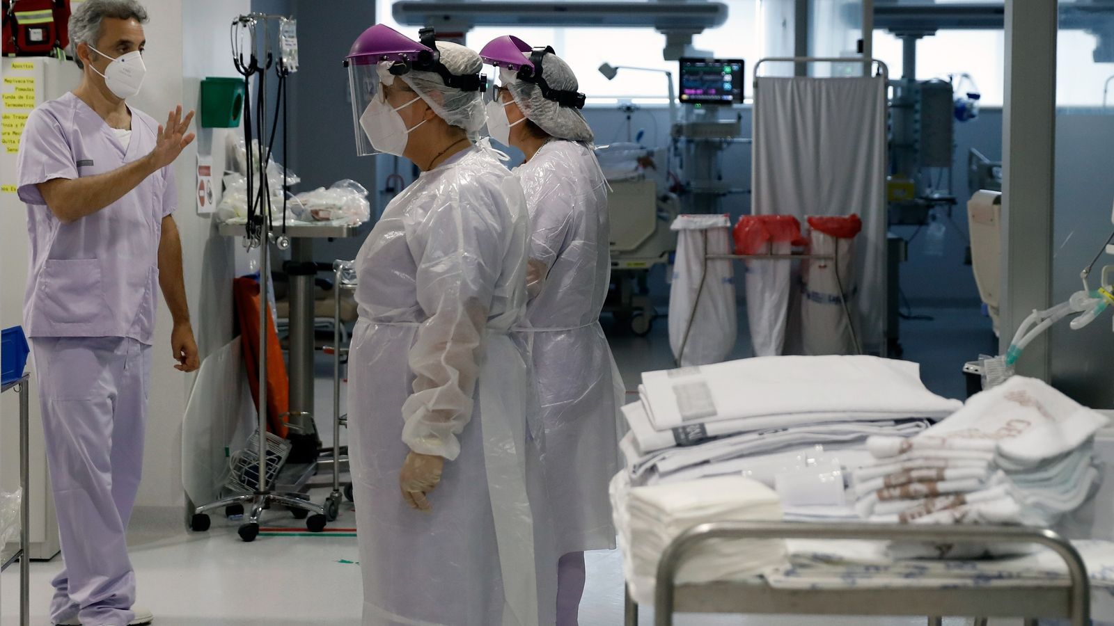 Treballadors de l'hospital Clínic de València