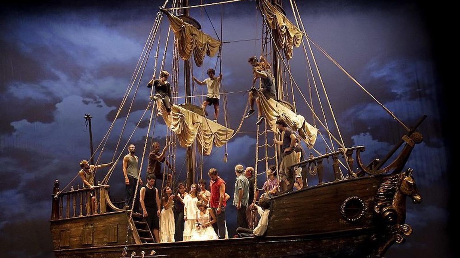 Imatge de l'obra 'Mar i cel' al Teatre Victòria