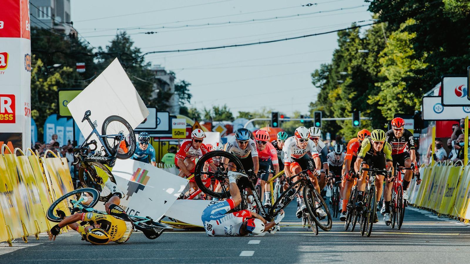 La caiguda al final de l'última etapa del Tour de Polònia, que va enviar Jakobsen a l'hospital.