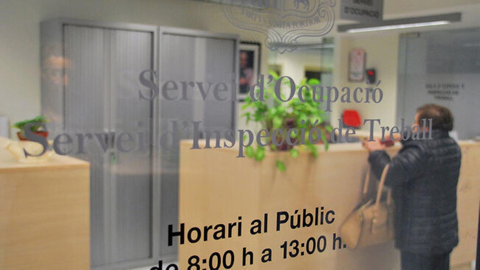 Oficina del Servei d'Ocupació. / ARXIU ANA