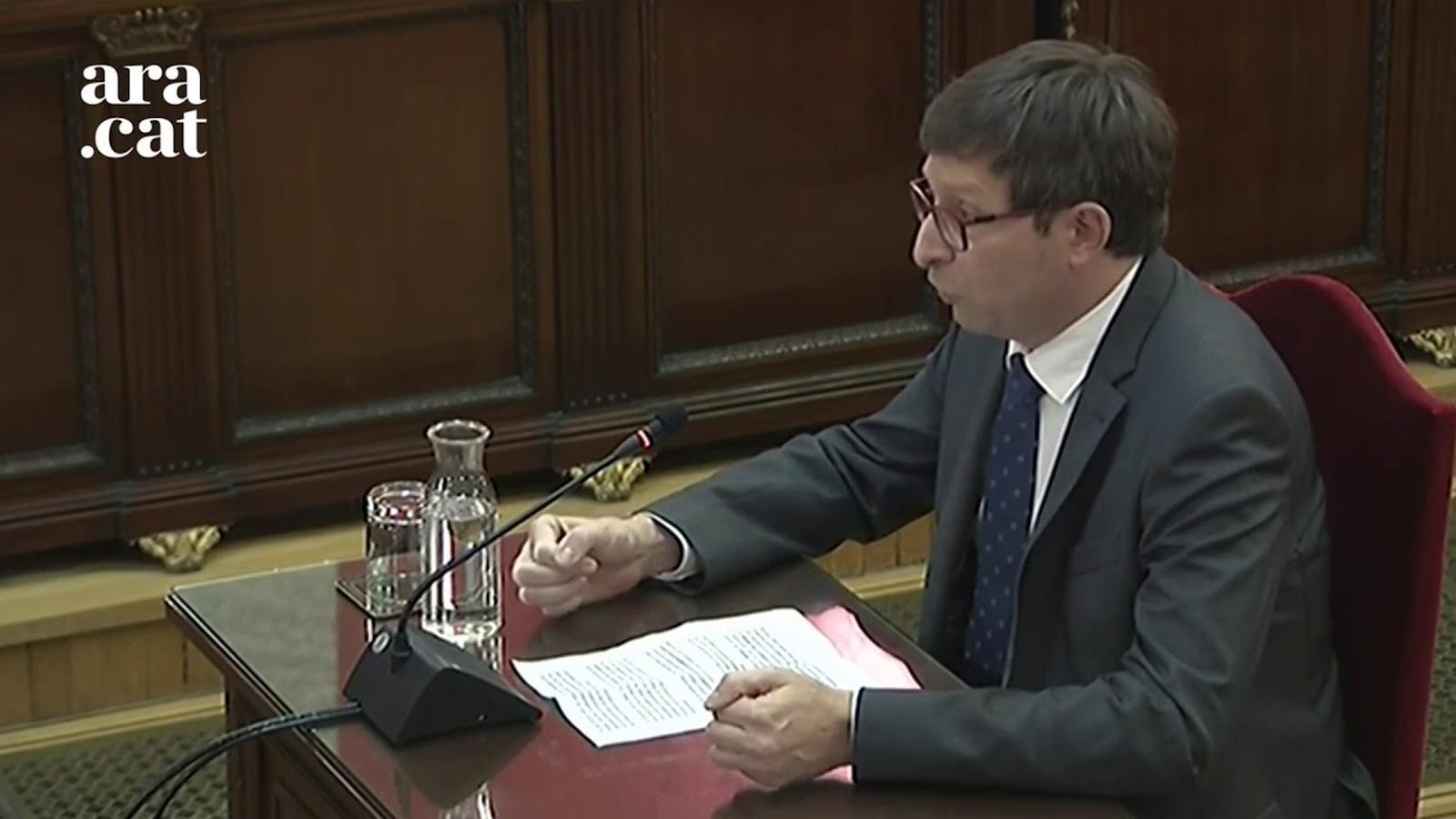 """Carles Mundó: """"Aquest judici és el resultat del fracàs de la política, però crec que estem a temps de trobar solucions, mai és tard"""""""