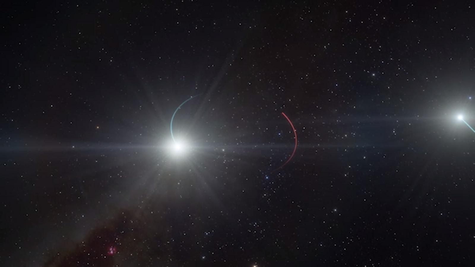 Recreació del forat negre més proper a la Terra