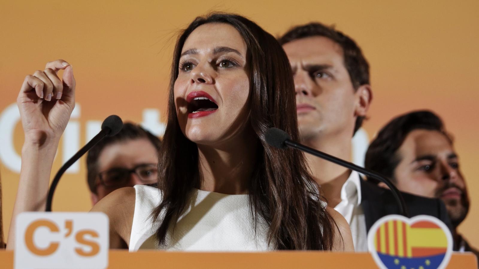La candidata de C's, Inés Arrimadas, amb Albert Rivera / Pere Virgili