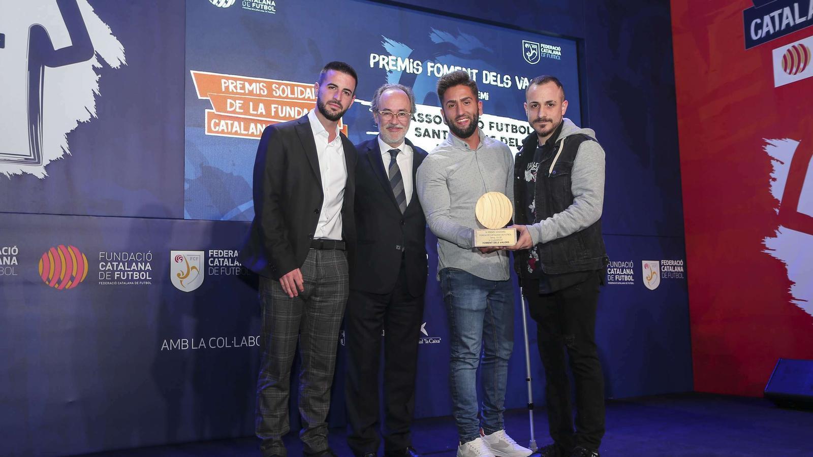 La Fundació de la Federació Catalana de Futbol va atorgar el primer solidari 'Foment dels valors' a l'equip de futbol per a amputats de l'AF Sant Vicenç dels Horts
