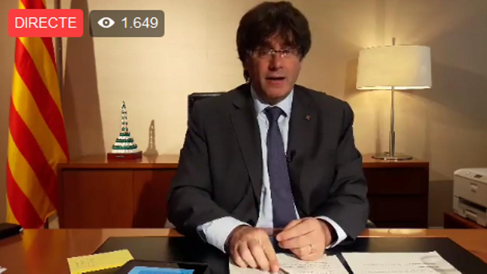 Puigdemont defensa que l'estat català tingui exèrcit