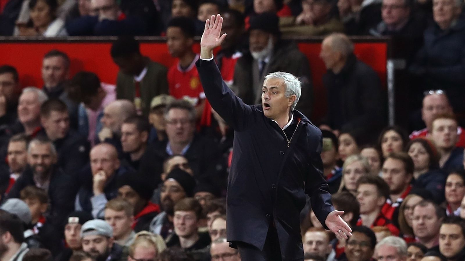 José Mourinho, durant el partit contra el City