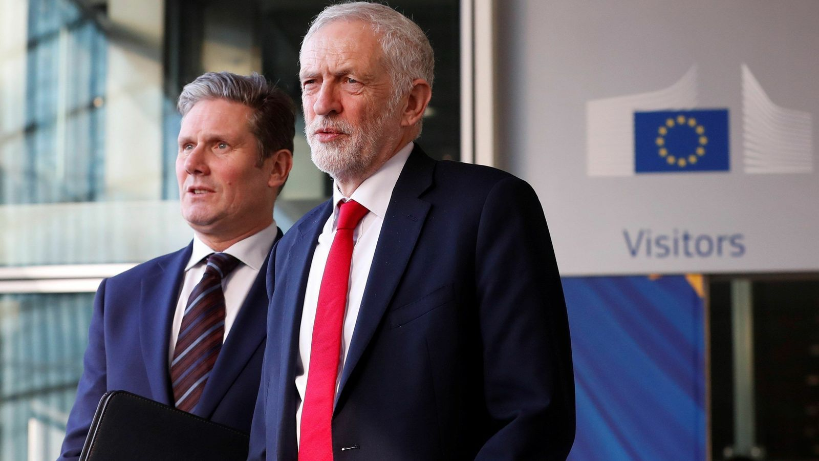 El líder laborista, Jeremy Corbyn, aquest dijous a Brussel·les.