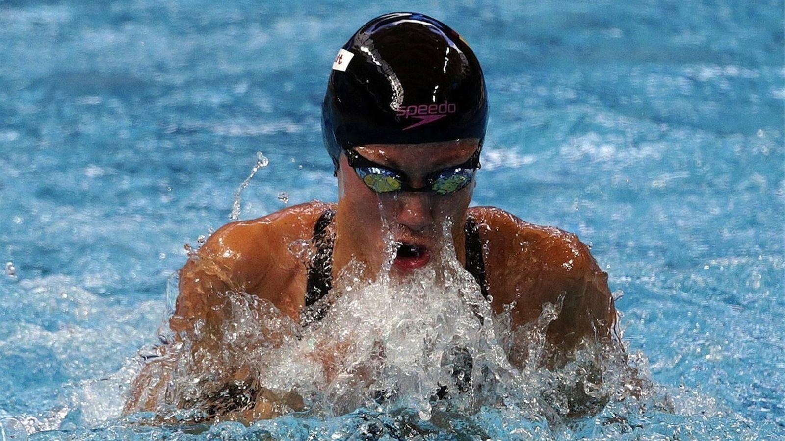 Jessica Vall, durant la sèrie dels 100 metres braça dels Mundials de Kazan