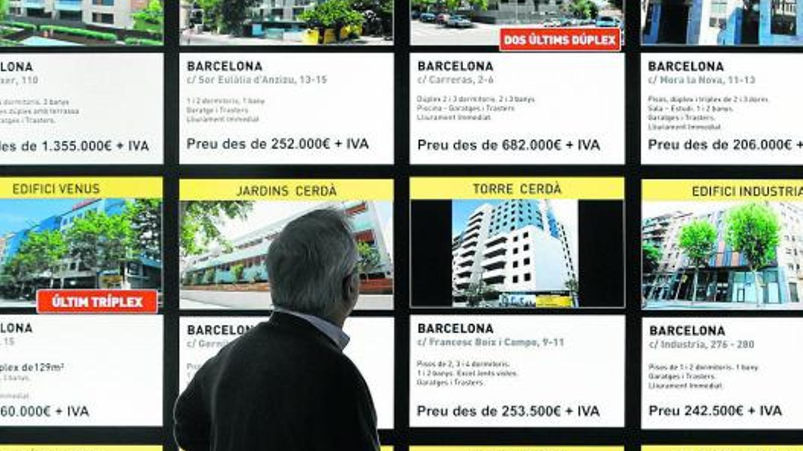 El preu de l'habitatge continua caient des dels màxims de l'any 2008, tot i que Barcelona continua sent una de les ciutats més cares de l'Estat.