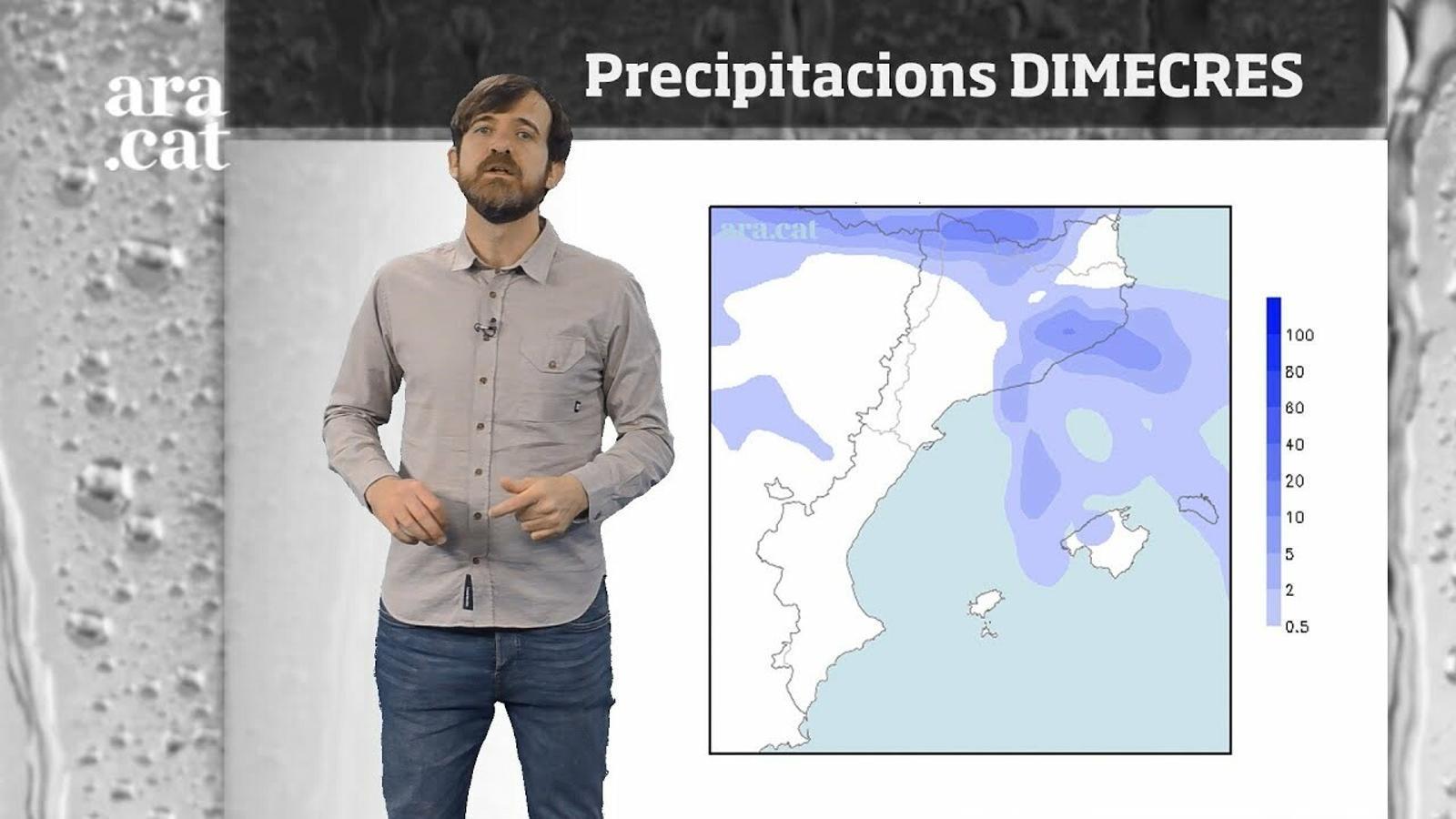 La méteo en 1 minut: neu, ruixats i fred hivernal