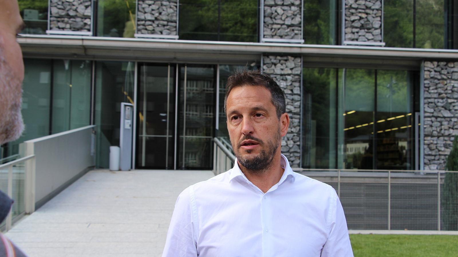 El president del grup parlamentari socialdemòcrata, Pere López. / M. F.
