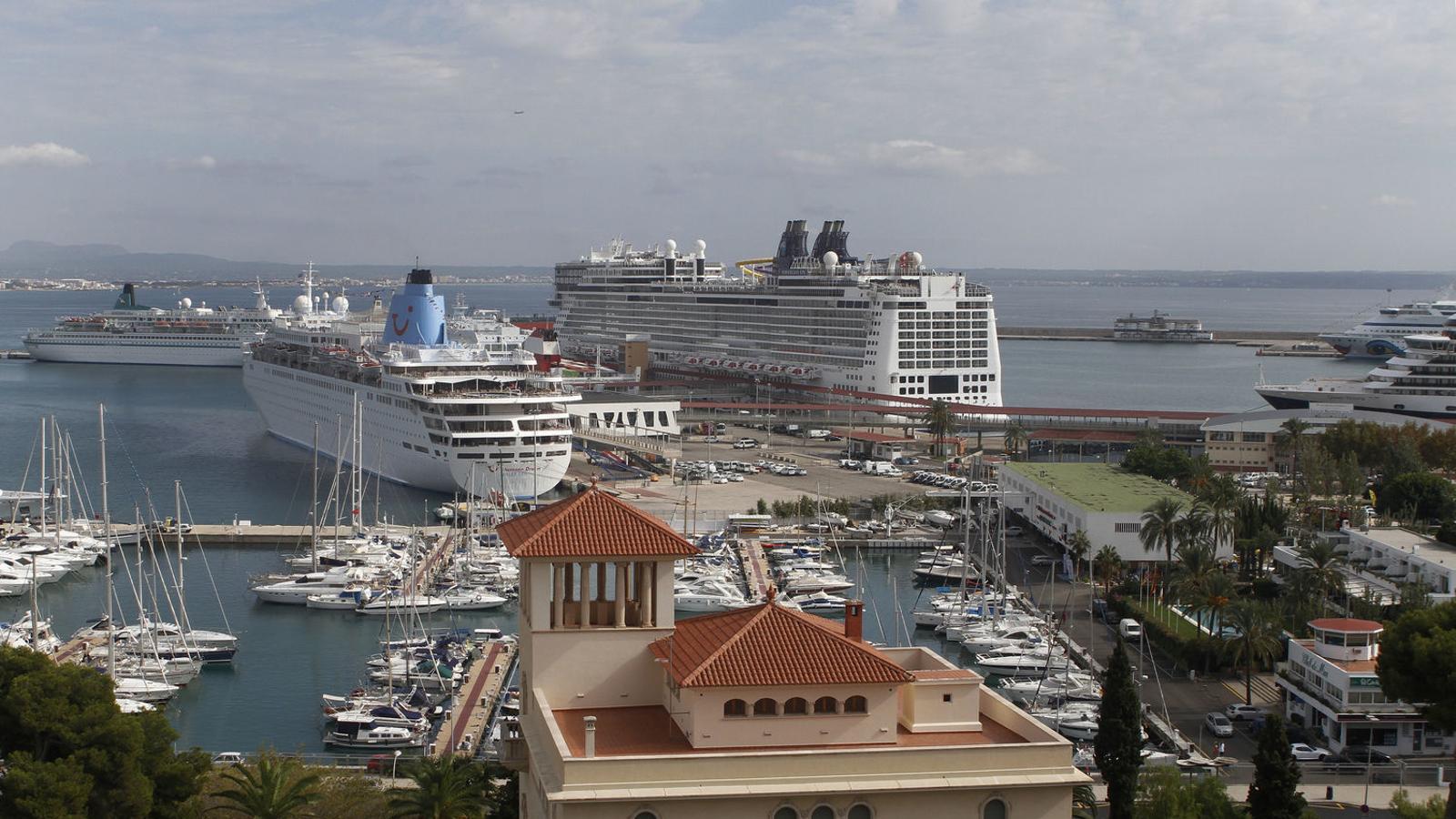 El port de Palma ha estat l'únic que no ha incrementat els ingressos durant 2017.