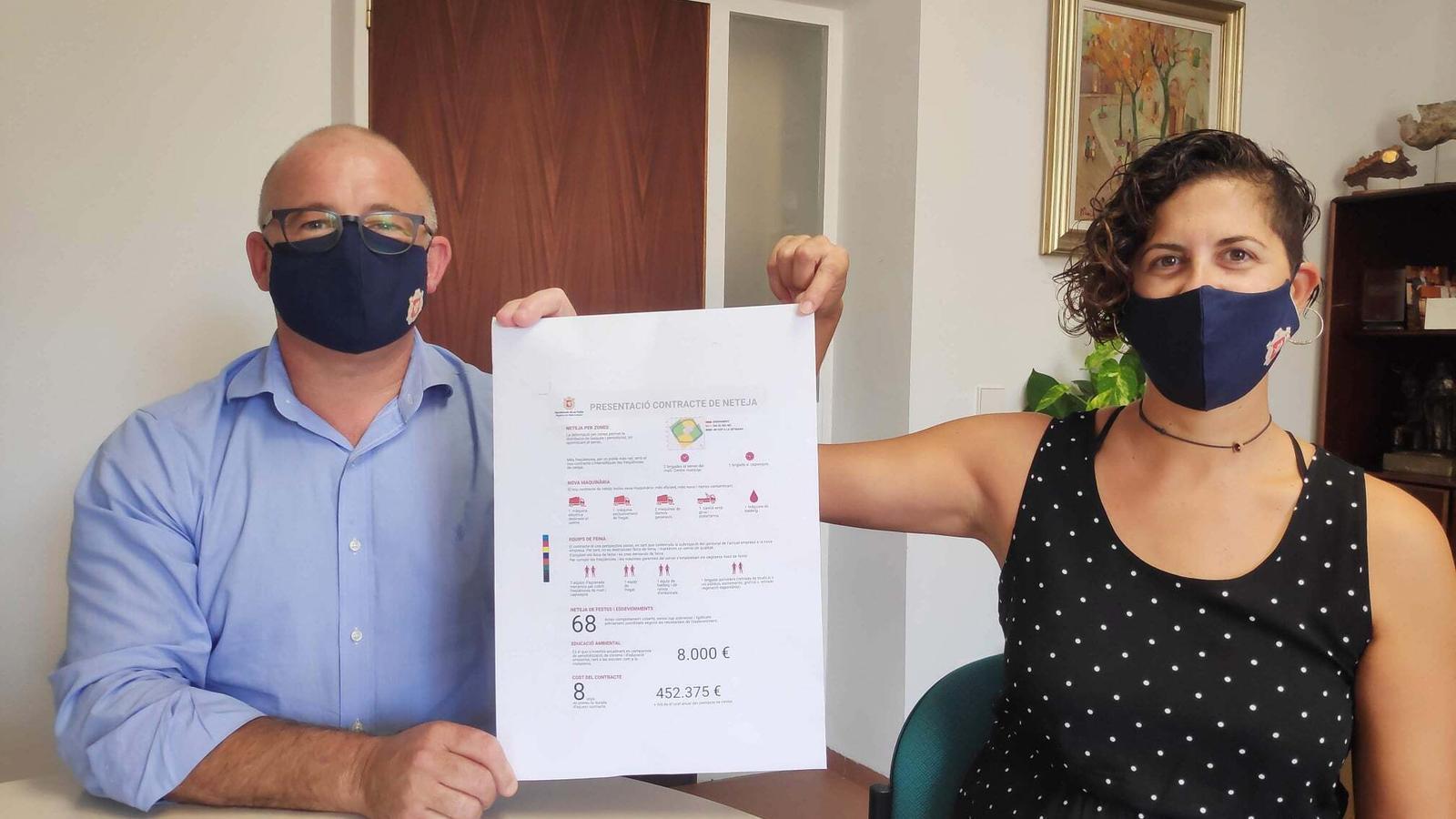 Llorenç Gelabert i Catalina Munar./ AJUNTAMENT DE SA POBLA