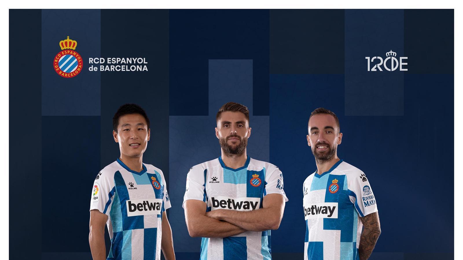La samarreta commemorativa del 120è aniversari de l'Espanyol