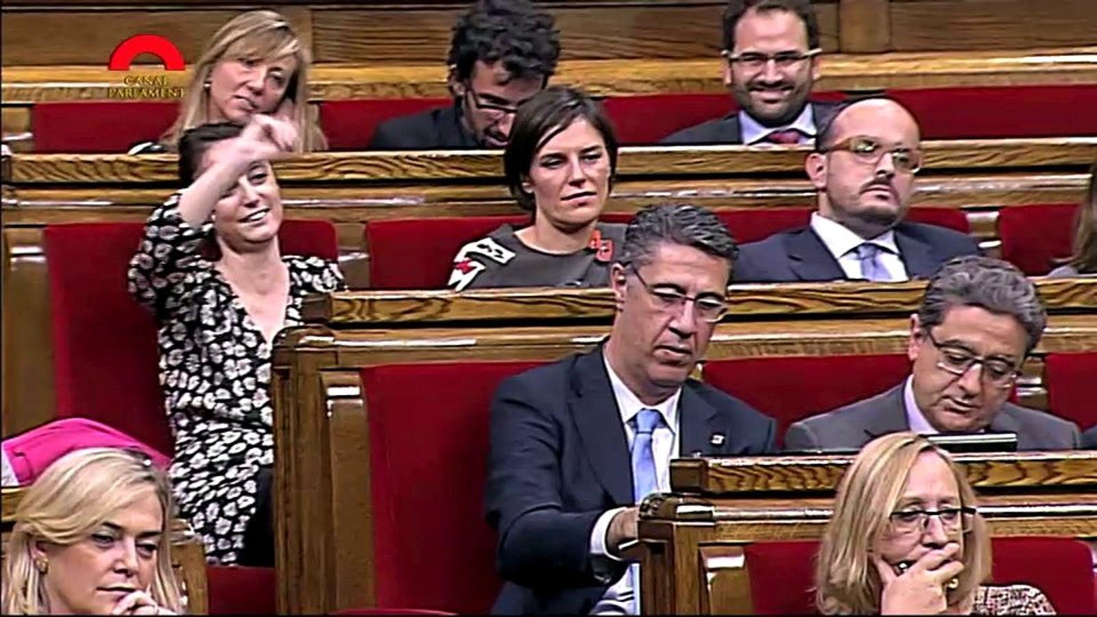 L'actitud de la diputada del PP Andrea Levy durant el debat d'investidura de Mas