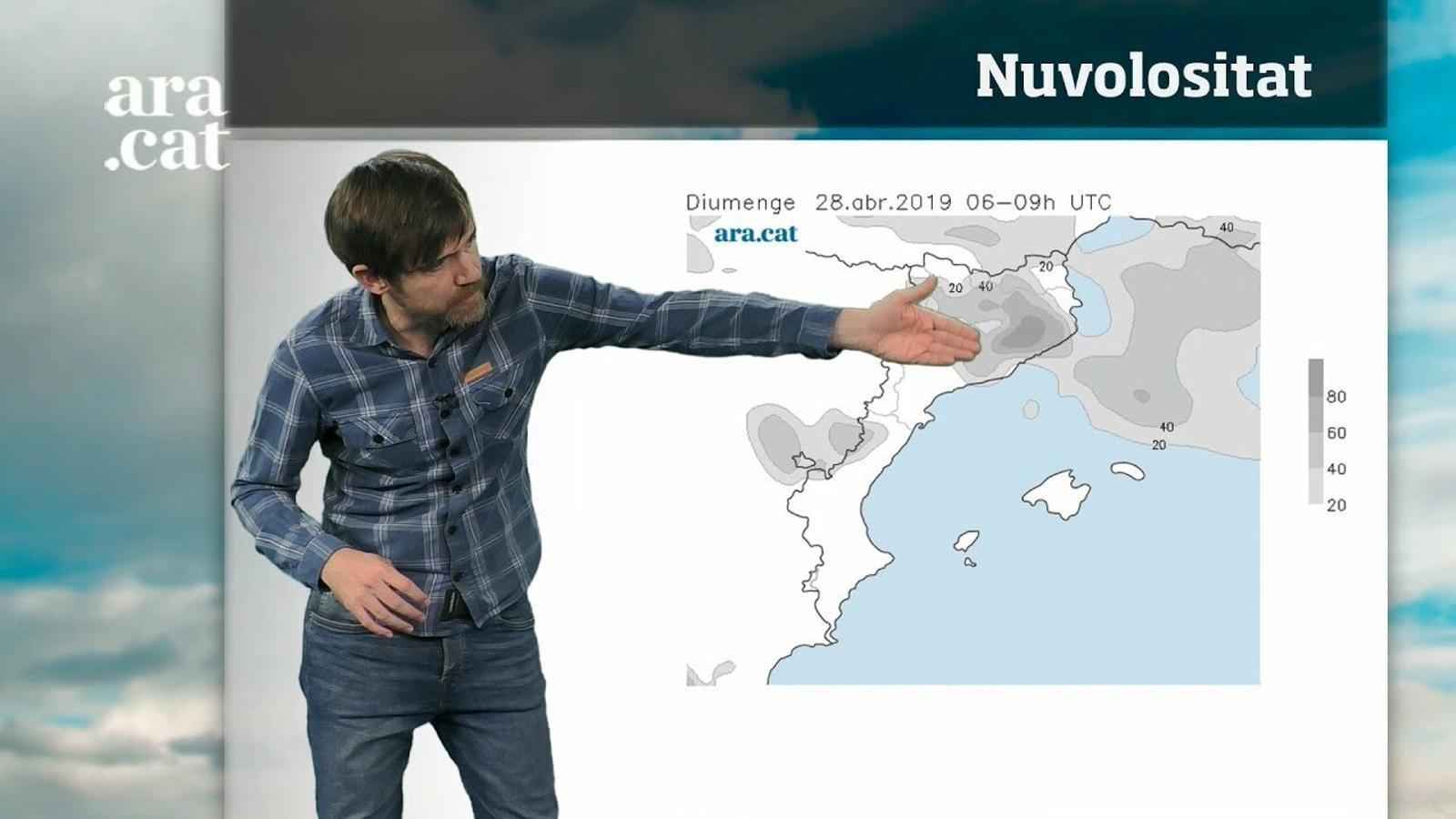 La méteo en 1 minut: cap de setmana sense pluja però amb poca calor