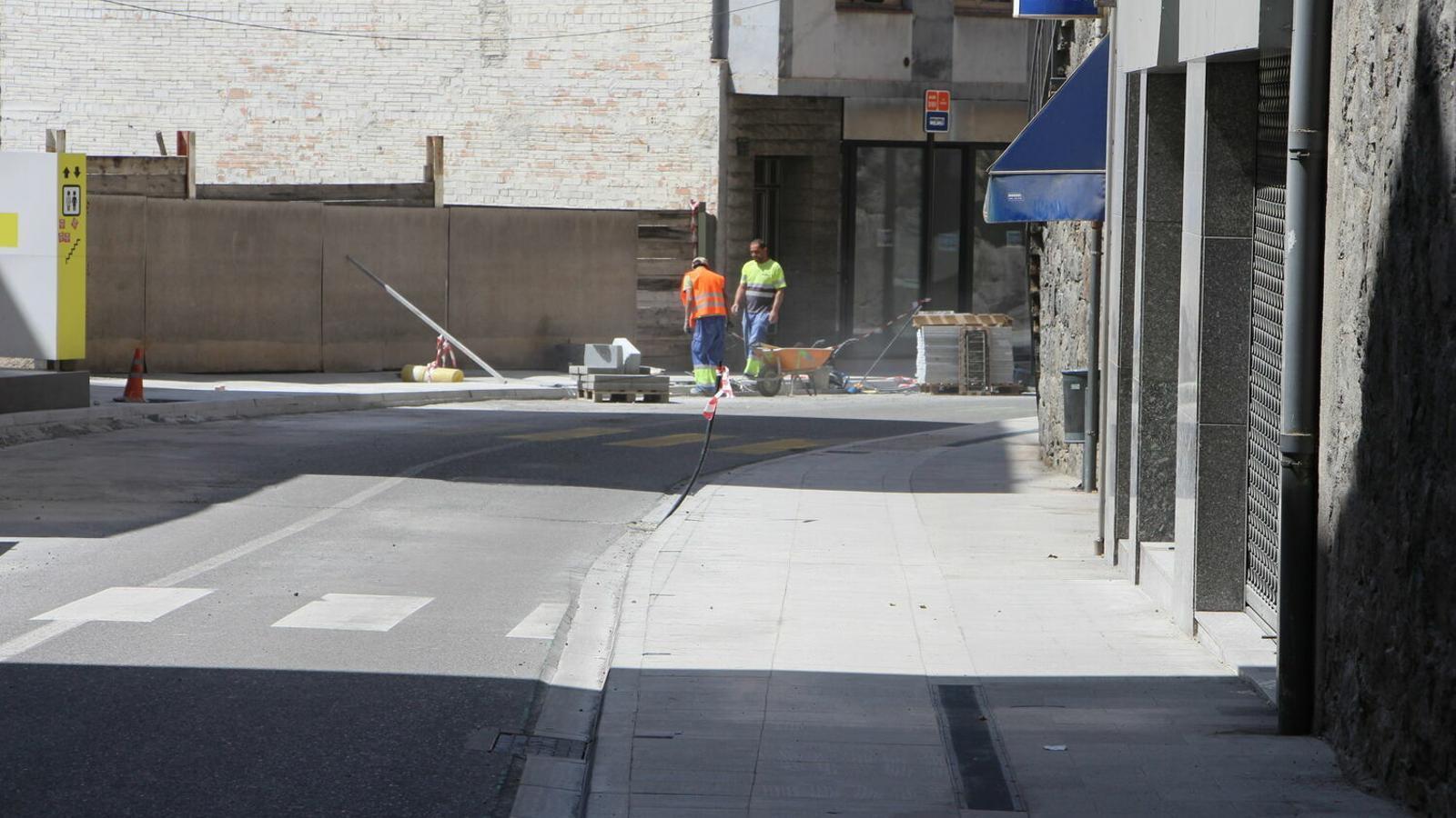Tram de l'avinguda Princep Benlloch afectada per les obres. / M. R. F. (ANA)