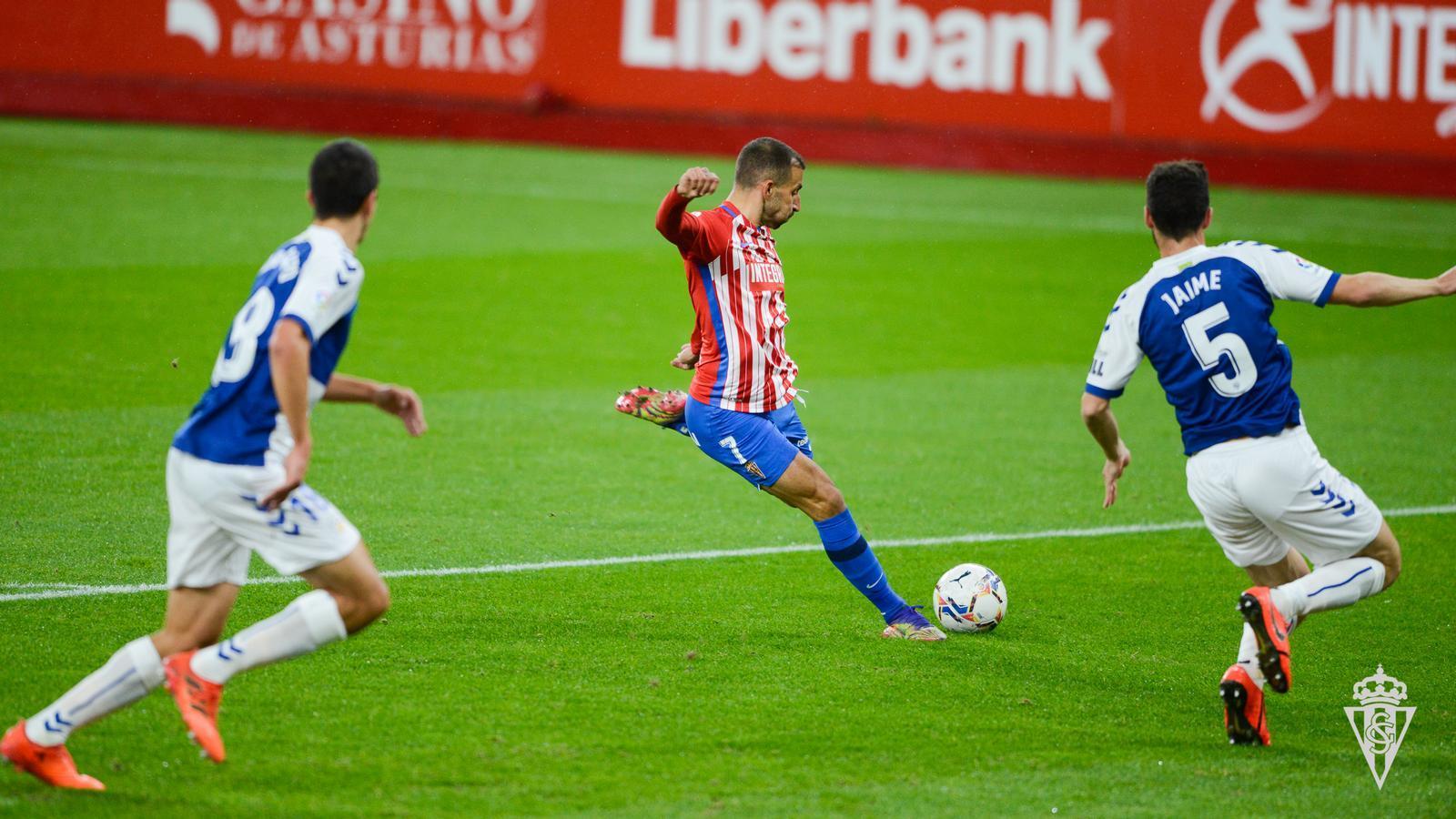 Una imatge de l'Sporting-Sabadell