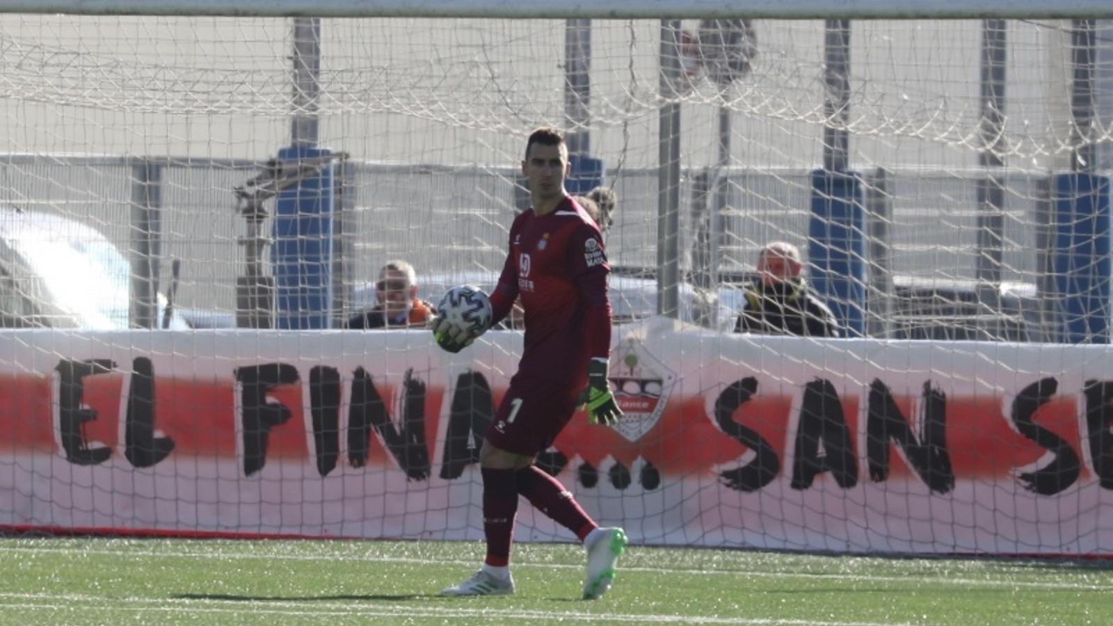 Andrés Prieto és el porter titular de l'Espanyol a la Copa del Rei d'aquesta temporada