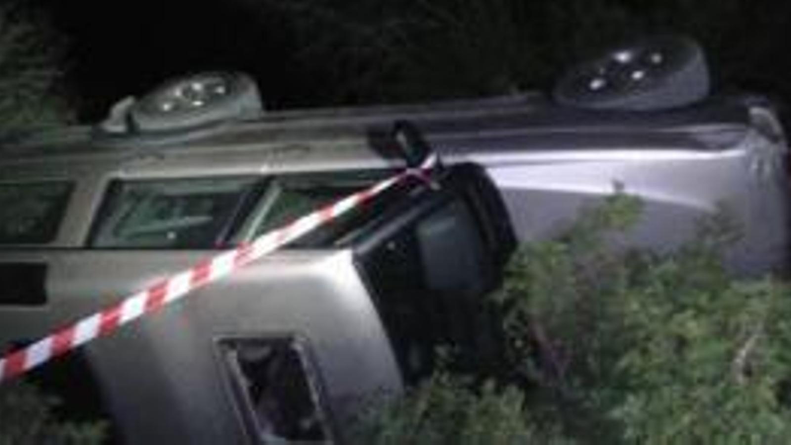 Imatge del vehicle sinistrat