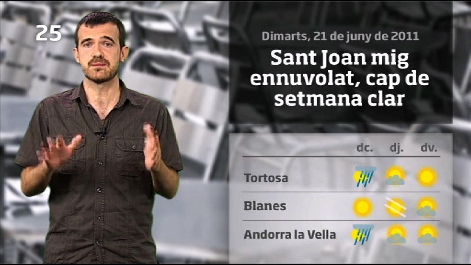 La méteo en 1 minut: parèntesi de calor per Sant Joan (21/06/2011)