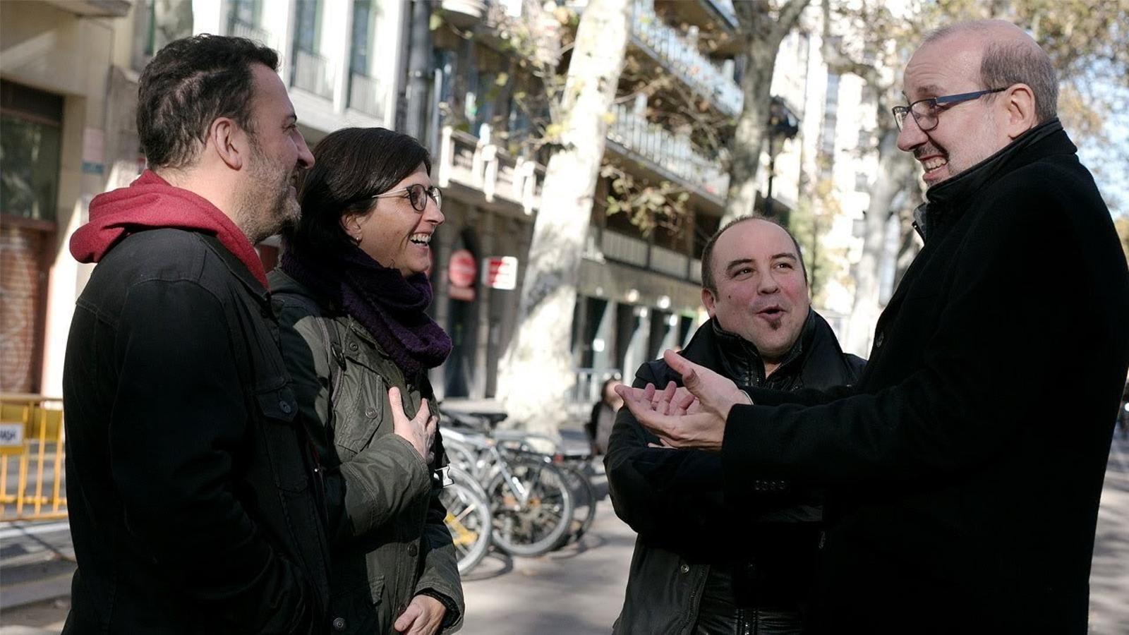 Debat sobre la funció de l'humor en la comunicació amb Natza Farré, Toni Soler i Guillem Sans