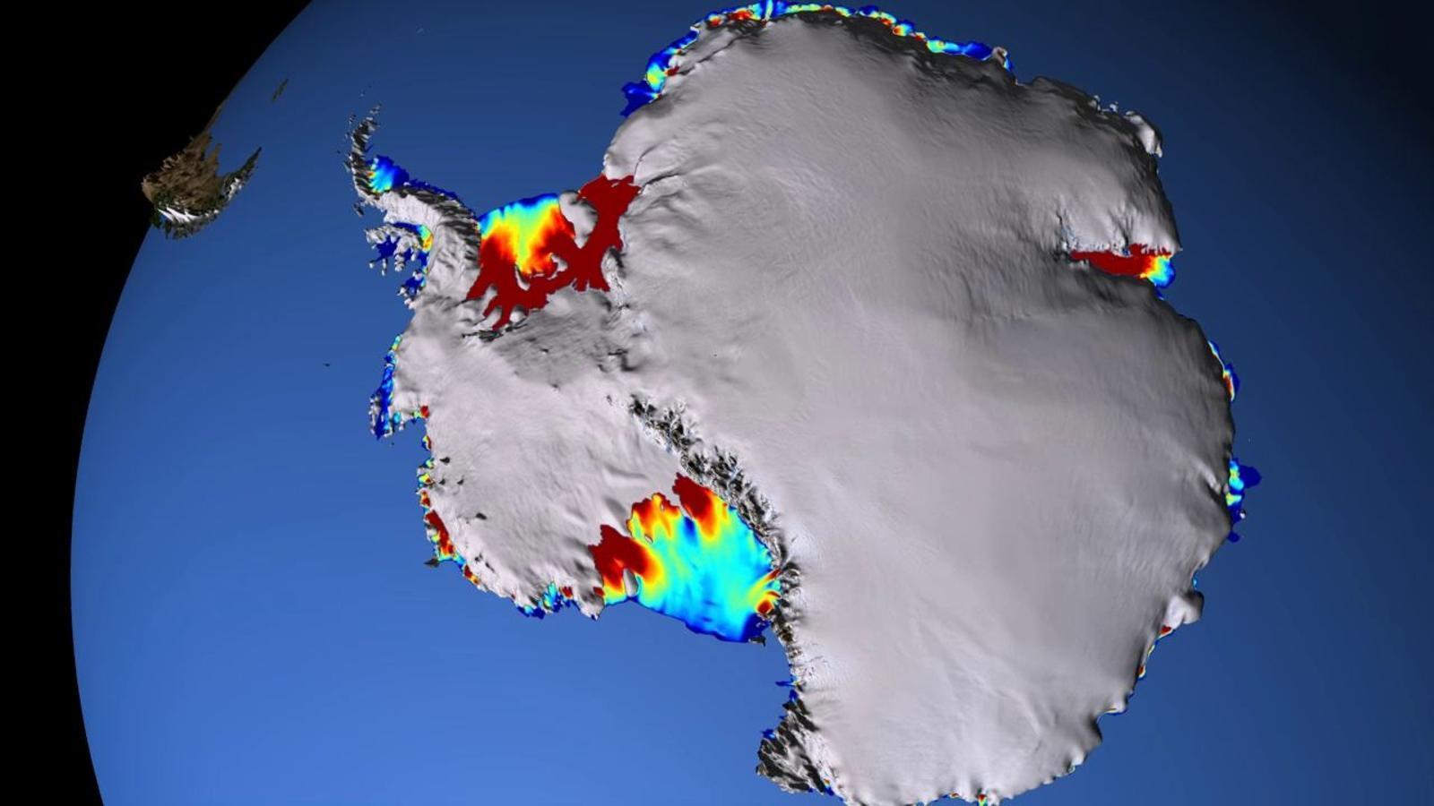 Circulació de les corrents oceàniques al voltant de l'Antàrtida