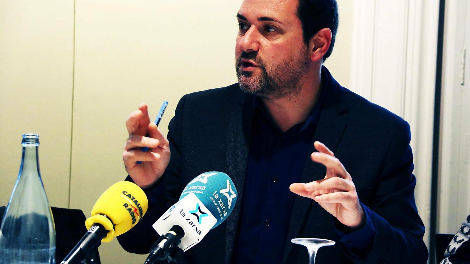 El director de l'ICEC, Miquel Curanta, ahir en una trobada amb la premsa a Barcelona.