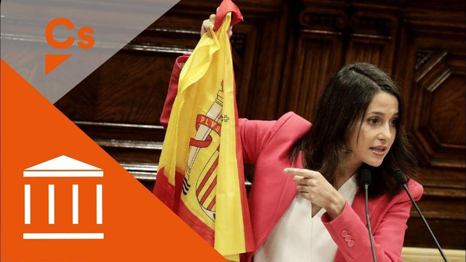 Arrimadas bandera esapnyola ple