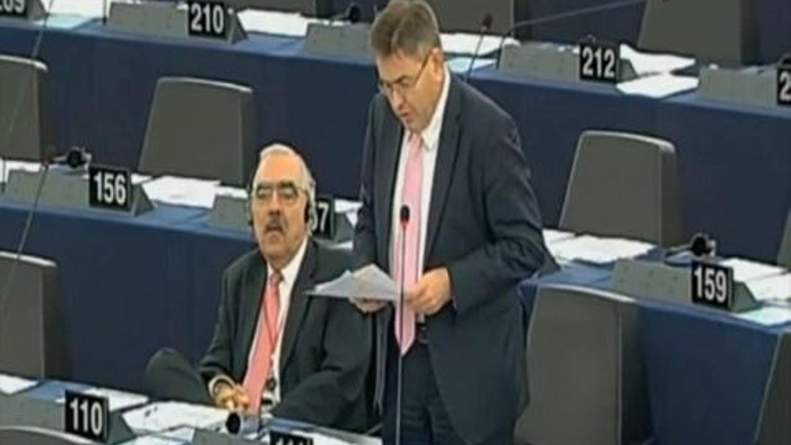 La intervenció a l'Eurocambra de Dirk Jan Eppink, eurodiputat flamenc que defensa el referèndum català