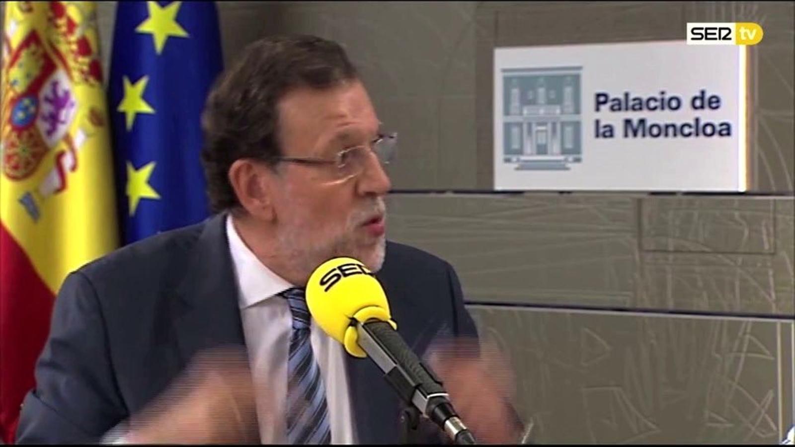 Rajoy a 'El larguero', amb Vicente del Bosque i José Ramón de la Morena