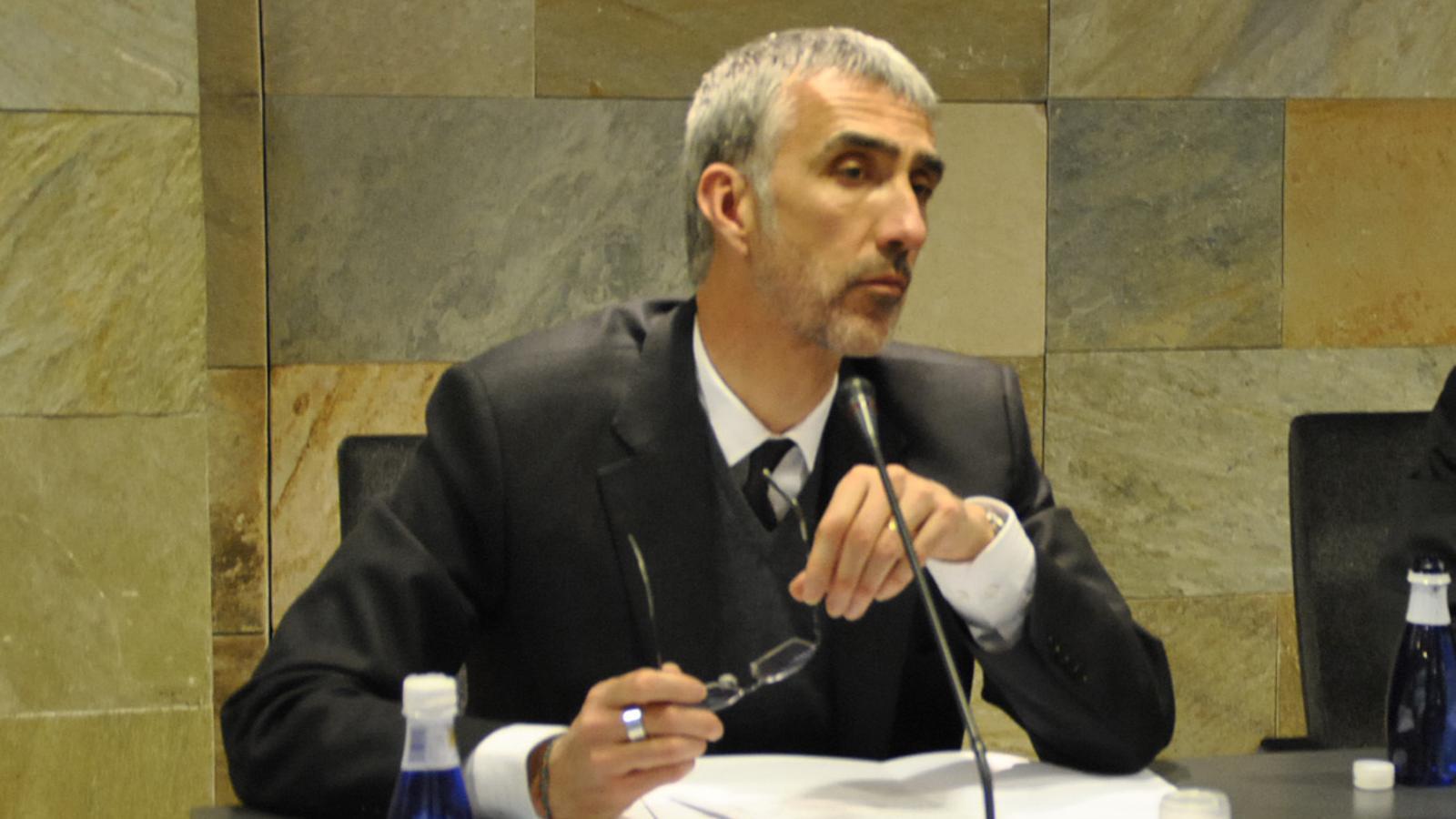 Èric Bartolomé, quan era conseller d'Ordino en una imatge del 2013. / Arxiu ANA