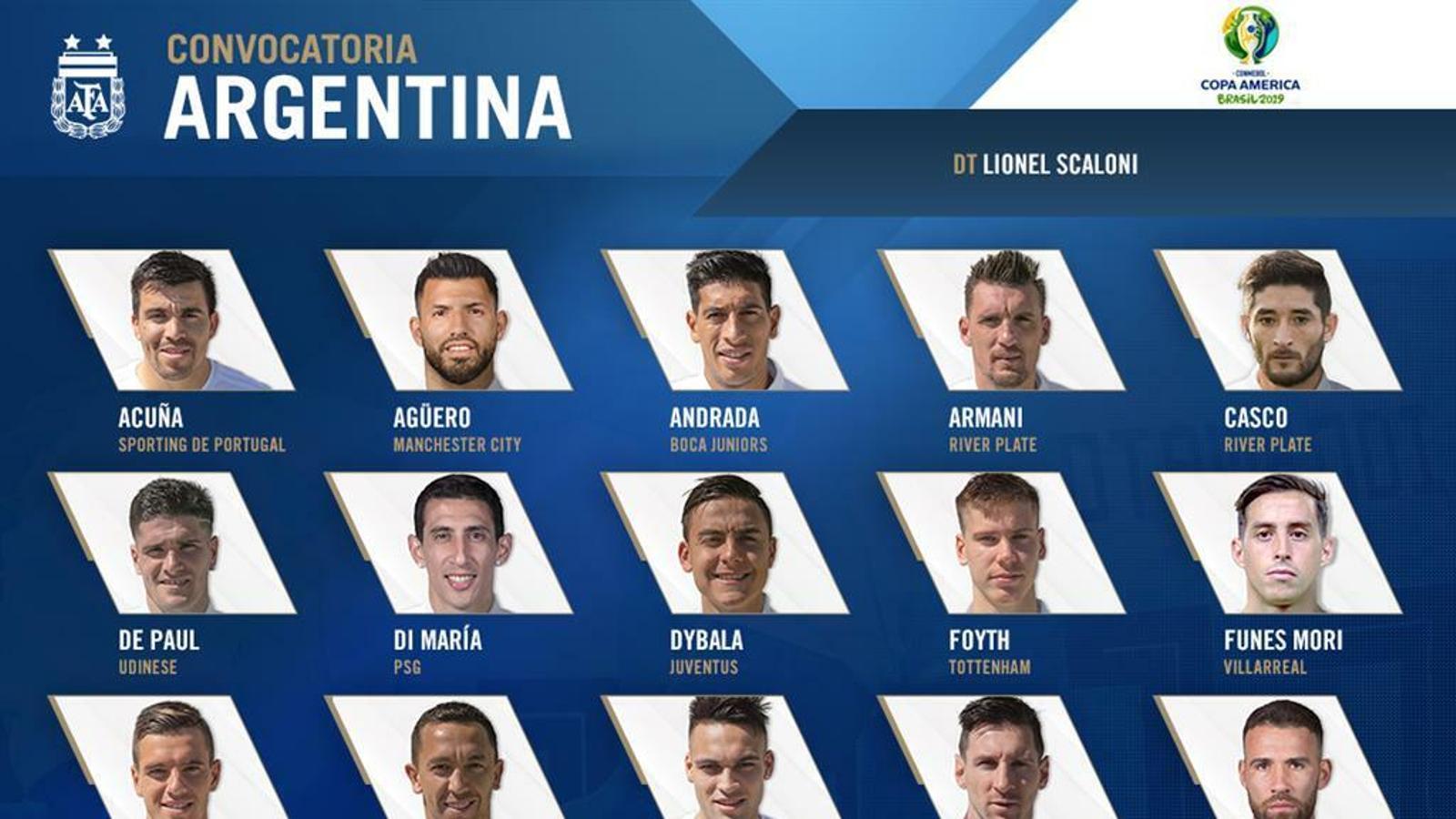 Messi lidera la llista de 23 convocats de l'Argentina per a la Copa Amèrica