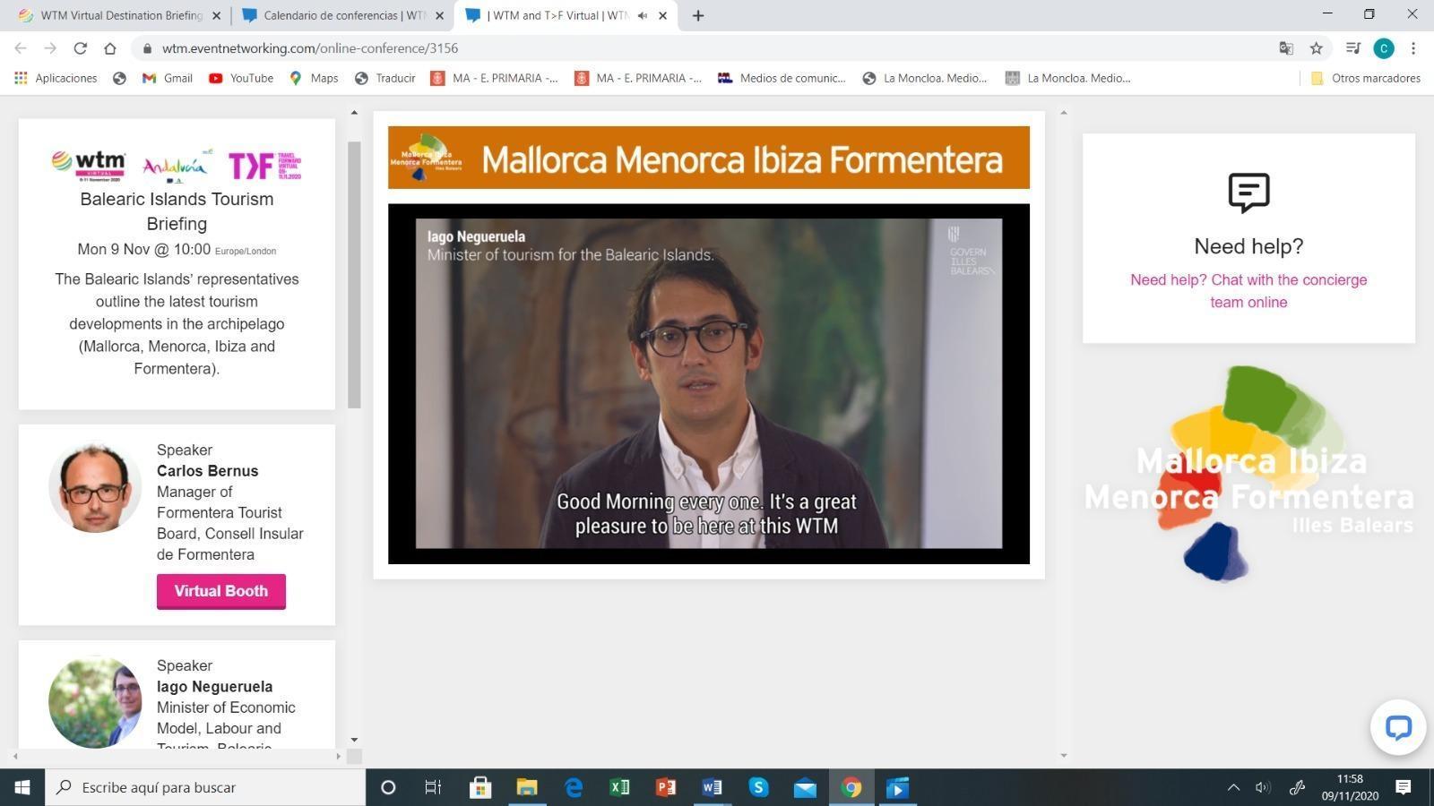 El conseller Iago Negueruela defensa que les Balears estan preparades per a la temporada turística del 2021