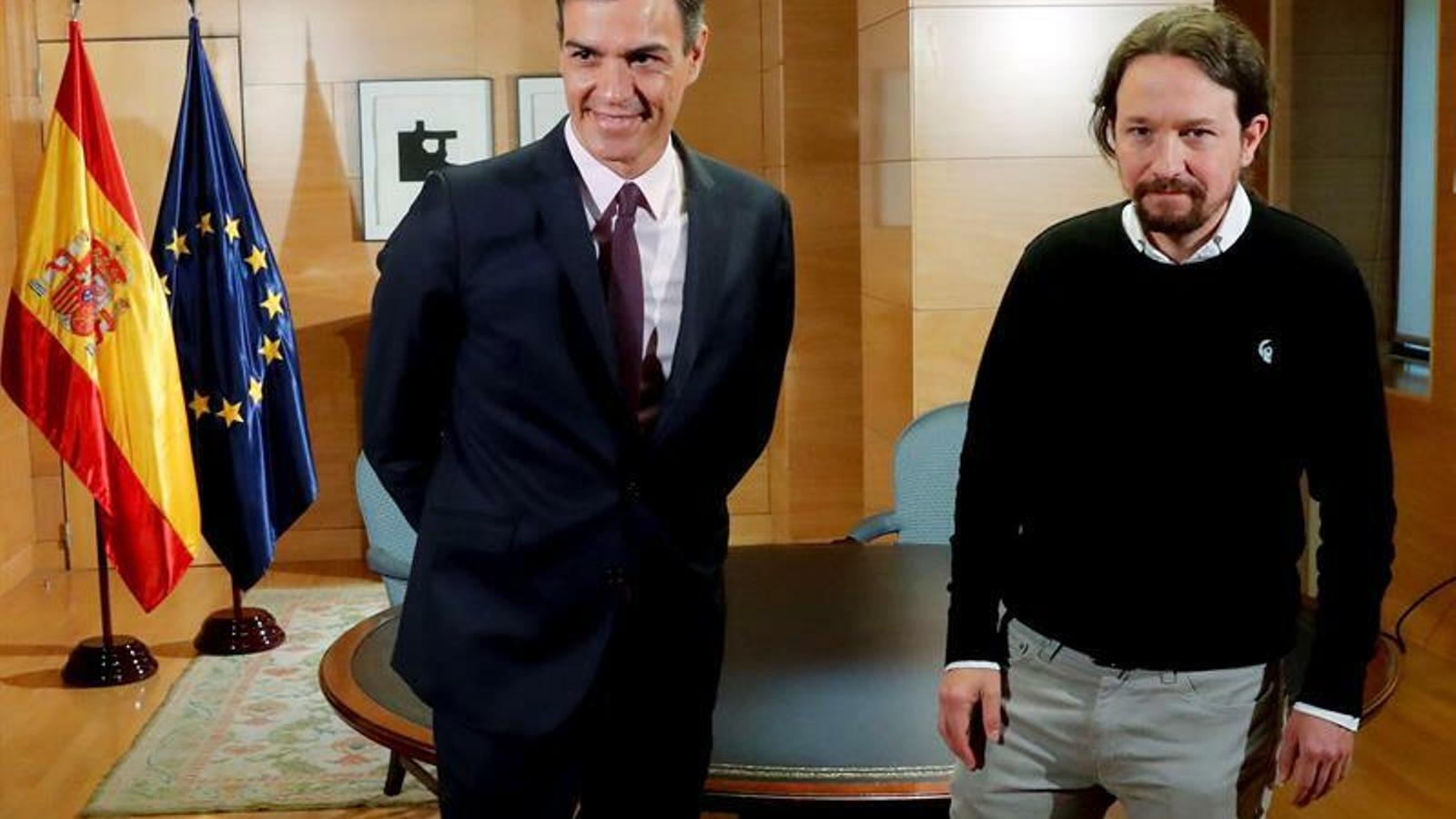"""Iglesias i Sánchez acorden treballar junts per un """"govern de cooperació"""""""