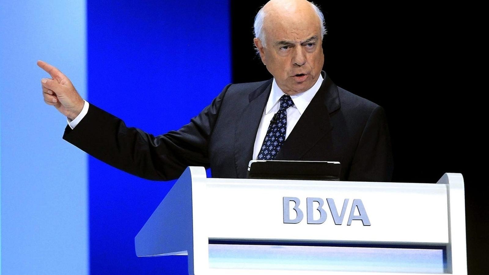 Francisco González, expresident del BBVA i fins ara president d'honor de l'entitat.
