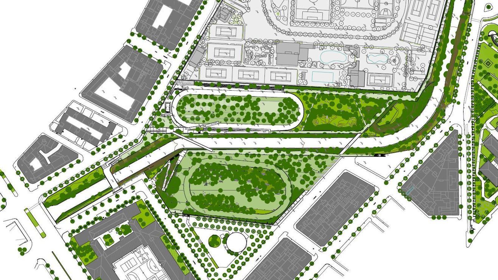 Plànol del futur bosc urbà